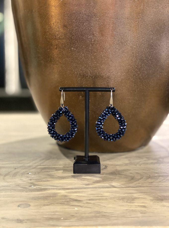 druppel oorbellen blauw