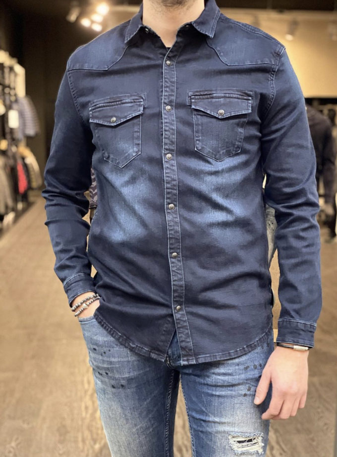 Purewhite spijker blouse