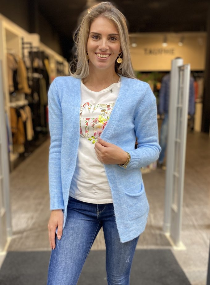 Dames Vest lichtblauw