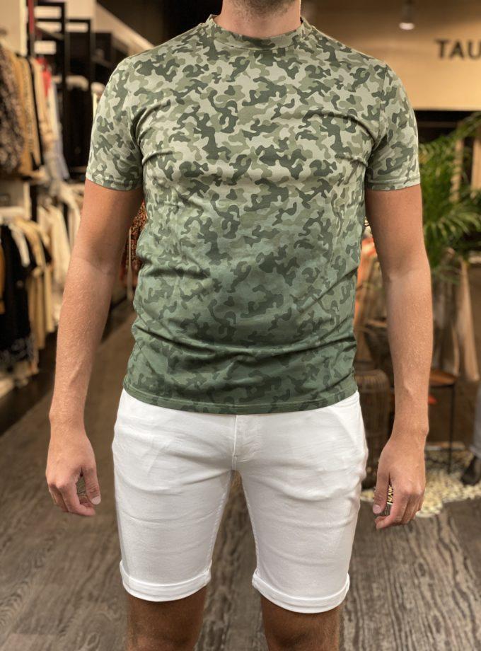 purewhite heren t-shirt camouflage