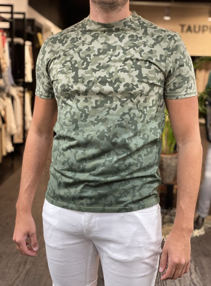 purewhite t-shirt groen camouflage