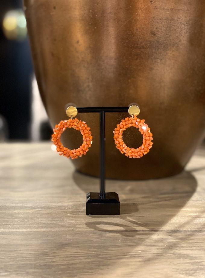 oranje oorbellen