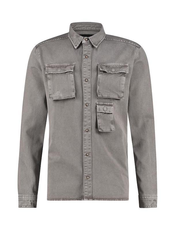 denim jacket grijs heren