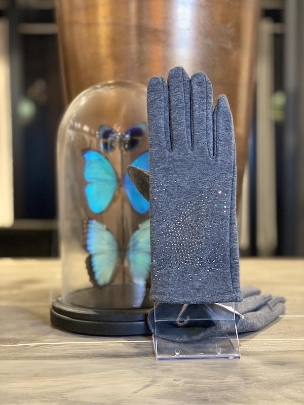 handschoenen grijs steentjes